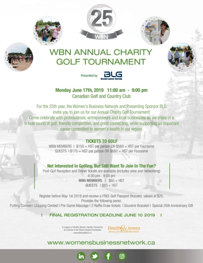 Annual WBN Charity Golf Tournament | Women's Business Network of Ottawa