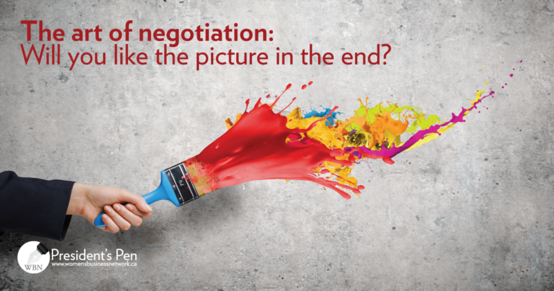 The art of negotiation: Will you like the picture in the end?