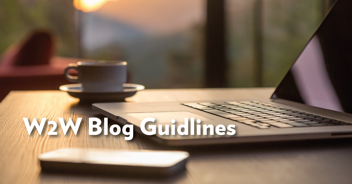 WBN Blog Guidelines