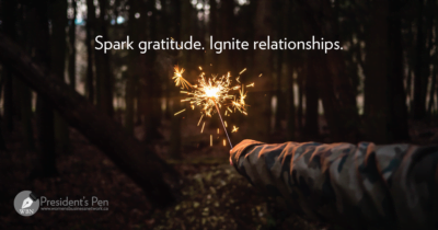 Spark gratitude. Ignite relationships.