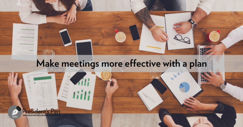 Manage meetings image with overlay text: Make meetings more effective with a plan