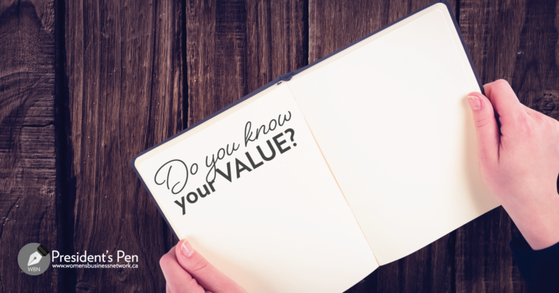 "Picture of hands holding book with text, ""Do you know your value?"""